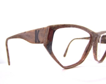 Rare KRIZIA 1990s Eyeglasses // Early 90s Vintage Designer Frames // Brown // made in Germany // Model k38