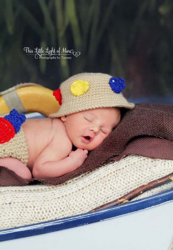 Baby fishing hat baby fishing outfit fishing gift for Baby fishing outfit