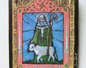 Retablo Retablos Art4thesoul Saint Brigid of Ireland Irish St Woman retablo winter