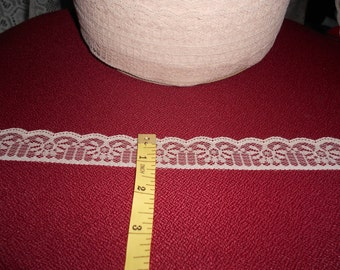 "1"" delicate cream Victorian flat lace -20 yards (25 cents a yard)"