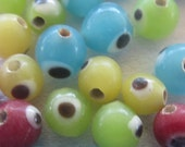 Evil Eye Bead Mix, 5mm, Package of 50