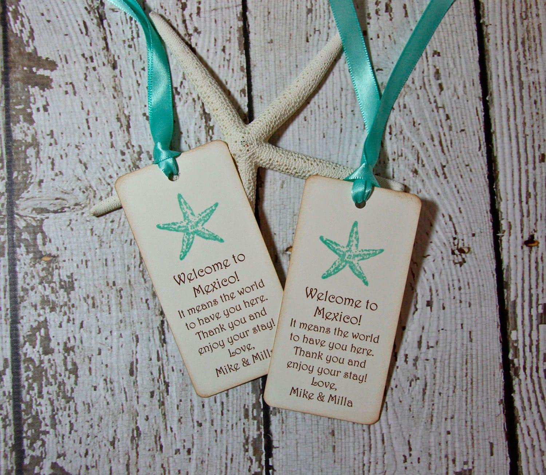 Starfish Beach Wedding Gift Tags Destination Wedding Gift