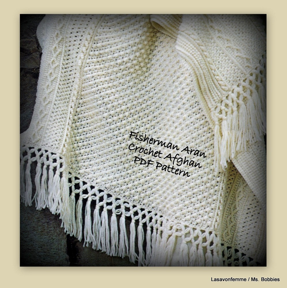Aran Fisherman Afghan Crochet Pattern