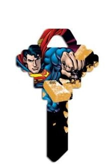 Superman Key Blank Marvel Super Hero Keys Kids Trade Collect