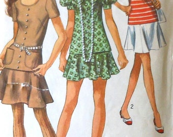 Vintage Two Piece Dress Sewing Pattern Simplicity 8780 Size 12