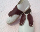 Vintage baby saddle shoes