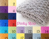 Crochet Baby Blankets solid color 20 colors to choose in difernt sizes to choose, travel, stroller or crib size