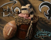 New Orleans Saints Elf Hat with Detachable Accessories and a Fringe Tail