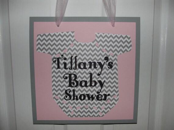 Items similar to baby shower door sign chevron door sign for Baby shower door decoration