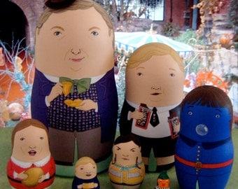Willy Wonka and the Chocolate Factory Matryoshka Dolls