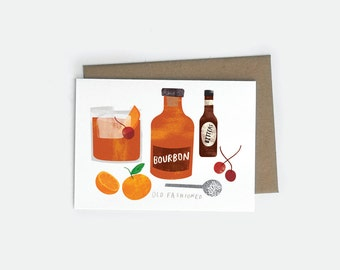 Old Fashioned A6 Card
