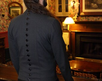 CUSTOM Wool Shirt Buttons All The Way Down The Back