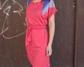 Shoulders dress in pink