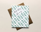 Hip Hip Hooray Wine Bottle Congratulations: Individual Greeting Card