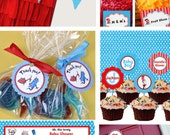 Dr. Seuss Banner Candy Label Baby Shower Printable - Stick to Your Story