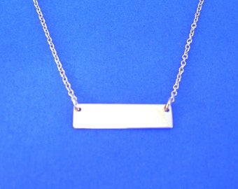 Do It Yourself Stamp N Attach Complete Sterling Silver Name Plate Necklace Kit Includes all Parts for Complete Necklace