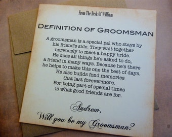 Will You Be My Groomsman Invitation, Ask Groomsman, Groomsman Wedding Invite