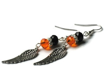 Harley Davidson Inspired Wing Earrings, Gifts for Women Under 30, Gifts for Mom Wife Sister Daughter Grandma Teacher, Stocking Stuffers