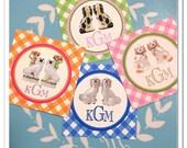 Monogram staffordshire gift tags