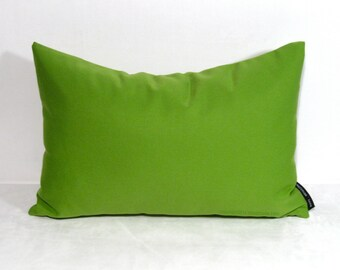 Lime Green Outdoor Pillow Cover, Decorative Green Pillow Cover, Modern Green Throw Pillow Cover, Solid Green Cushion Cover, Macaw Sunbrella