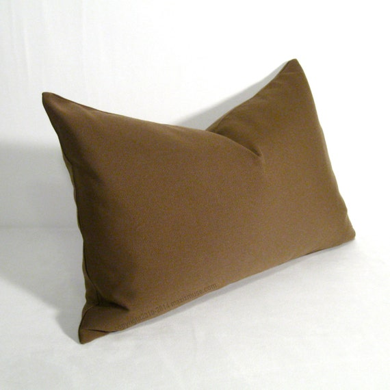 Cocoa Brown Outdoor Pillow Cover Decorative Light by Mazizmuse