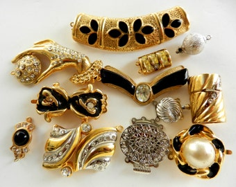 Great mix of Clasps - excellent collection of beautiful vintage clasps, Original 1960/1970 - 12 pieces --Art.960/2 -