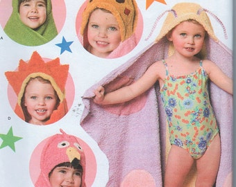 Smiplicity 4175 Childrens Uncut Sewing Pattern  One Size Bath Towels