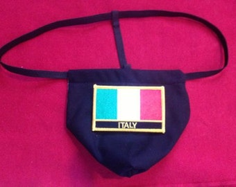Mens ITALY  Winter Olympics G-String Thong Male Soccer World Cup Lingerie Country Underwear