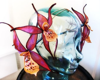 Spider Orchid Faerie Headdress