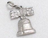 liberty bell philadelphia pennsylvania theme 925 sterling silver bracelet charm or pendant