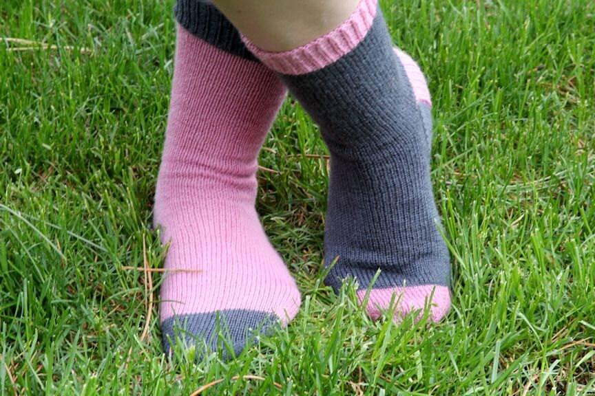 Knitting Patterns For Funky Socks : KNITTING PATTERN-Not So Crazy Socks Sock Pattern
