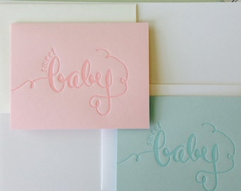 Sweet baby letterpress card