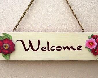 Fancy Dancy Welcome Floral Sign