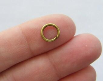200 Jump rings 8mm bronze tone