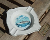 Vintage Ironstone Ocean Liner M/S Southward Ashtray  Made in England