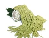 Sale Lacy Scarf, Hand Knit Scarf, Knit Scarf, Fashion Scarf, Knitted Scarf, Womens Scarf, Fiber Art, Winter Scarf, Cotton Scarf