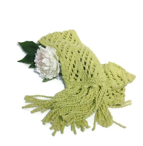 Lacy Scarf, Hand Knit Scarf, Knit Scarf, Fashion Scarf, Knitted Scarf, Womens Scarf, Fiber Art, Winter Scarf, Cotton Scarf