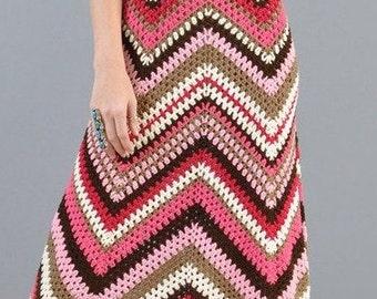 Crochet Pattern - Ladies Dress - Evening gown 34-36 in UK 12-14 - Retro Holiday Beach