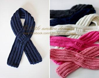 Baby Toddler Kids Ribbed Keyhole Scarf Crochet Pattern