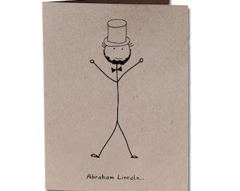 Anniversary Humor Greeting Card Abraham Lincoln