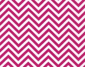 Remix colors by Ann Kelle and Robert Kaufman, Zig Zag/Chevron in Hot Pink 1/2 yd total