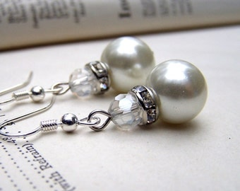 Simple Pearl Earrings Bridesmaids Jewelry Wedding Earrings