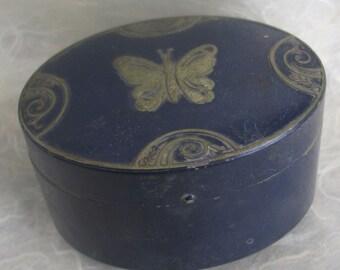 Lucretia Vanderbilt Vintage Enamel Butterfly Box