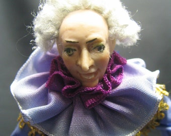 Comedy d' Arte Historical Clown Pantalone in Porcelain  A OOAK by Kay Brooke