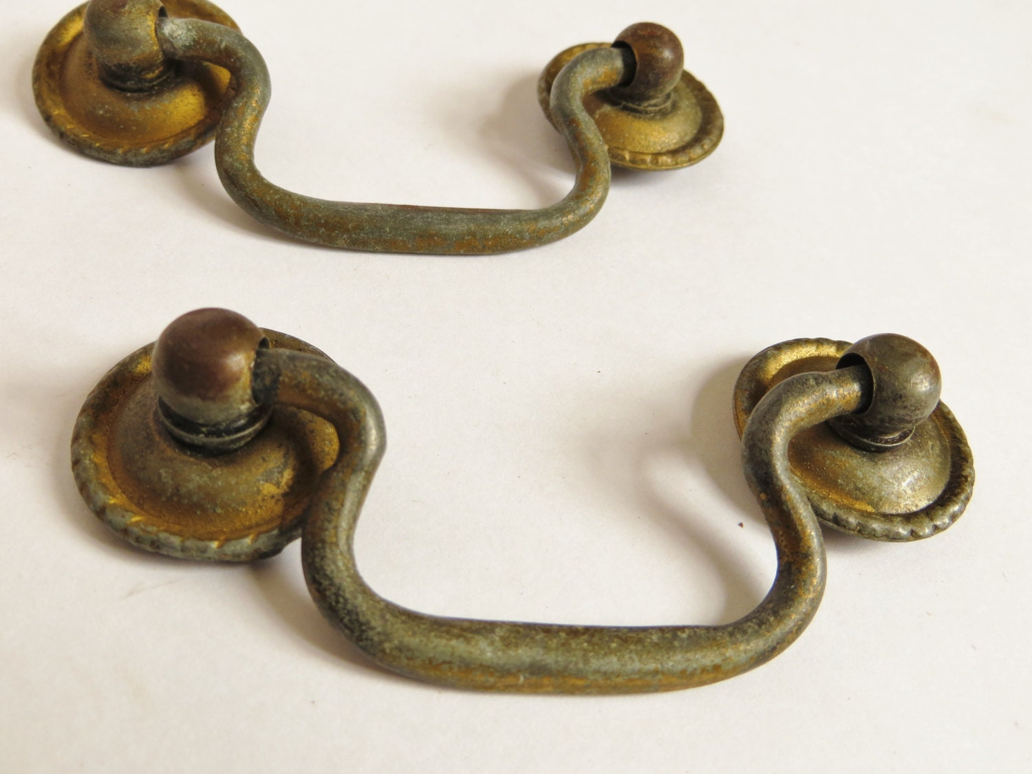 Pair Of Vintage Drawer Pulls 2 5 Inch Hanging Hardware