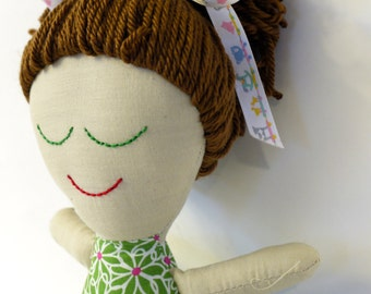 Handmade Rag Doll. Ready to Ship.  OOAK