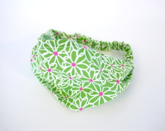Crazy Daisy Comfy Fabric Headband.  Infant, Toddler, & Child sizes. Ready to Ship.