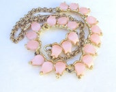 Necklace Pink Lucite Thermo Vintage
