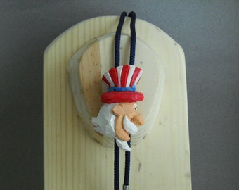 Bolo tie with Uncle Sam slide