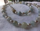 Aquamarine and FWPearl Necklace